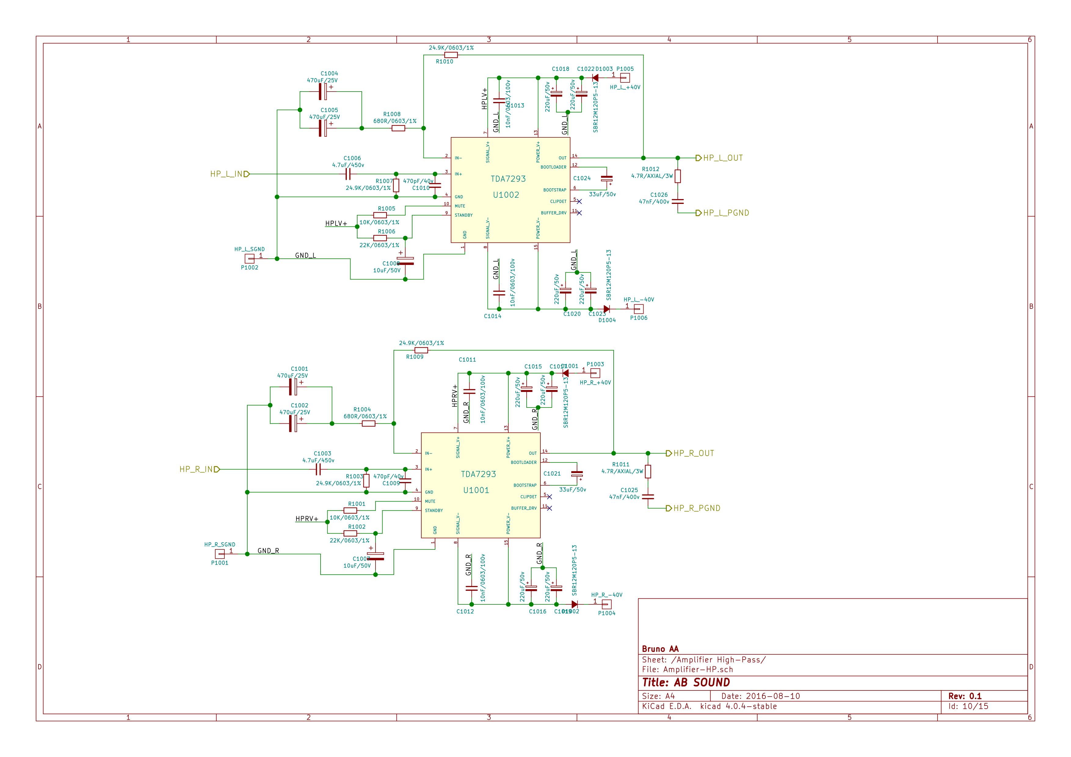 Class Ab Sound System Part I Main Board Schematic Bruno Aa Logitech Z 680 Circuit Diagram Hi Amp